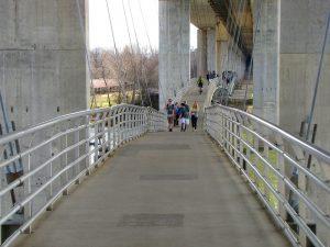 Pedestrian bridge to get to Belle Isle