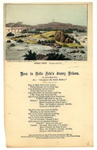 """""""Here in Belle Isle's Dreary Prison"""" a song written by a Union soldier while a POW"""