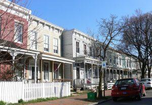 Row houses of Oregon Hill's hanted history